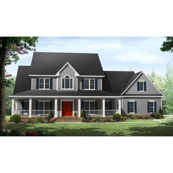 TheHouseDesigners-1600 Country House Plan with Basement Foundation (5 Printed Sets)
