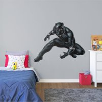 Fathead Black Panther - Life-Size Officially Licensed Marvel Removable Wall Decal