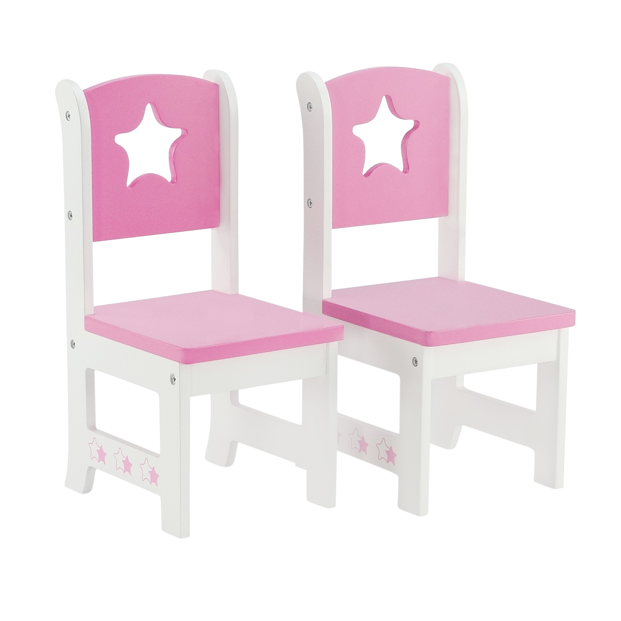 18 Inch Doll Furniture Lovely Pink And White 2 Chair Dining Set