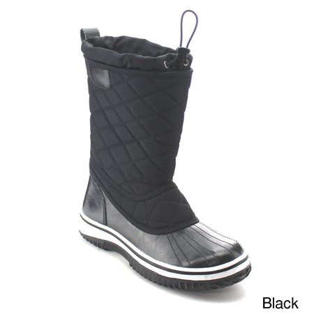 Refresh Aa42 Womens Lace Up Waterproof Quilted Mid Calf Winter Snow Boots