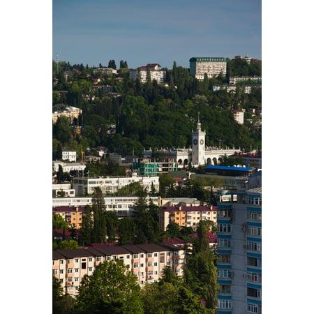 Elevated City View From Vinogradnaya Street Sochi Black Sea Coast Krasnodar Krai Russia Canvas Art   Panoramic Images  27 X 9