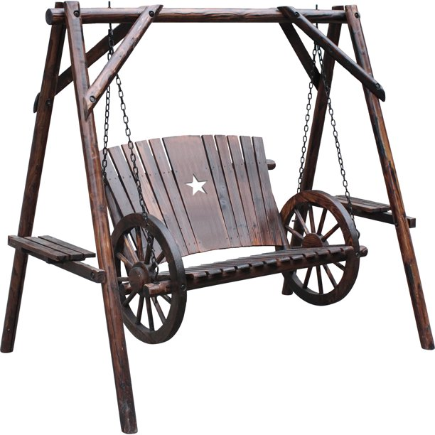 Leigh Country Wagon Wheel Swing With A-Frame