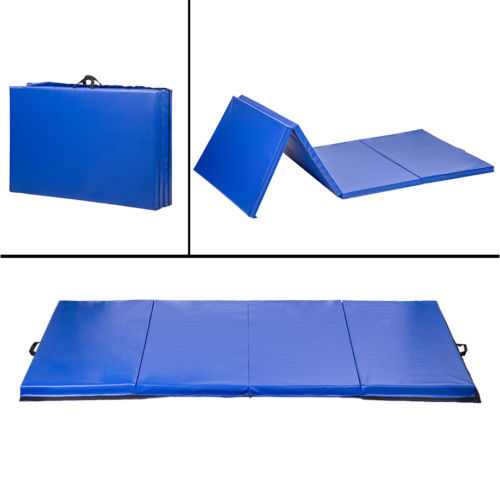 "4'x10'x2""Thick Folding Panel Gymnastics Mat Gym Fitness Exercise Mat"