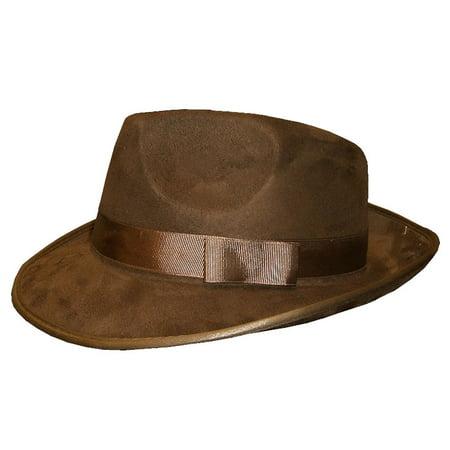Brown Gangster Fedora Hat - Walmart.com 0ce8eb62d2f