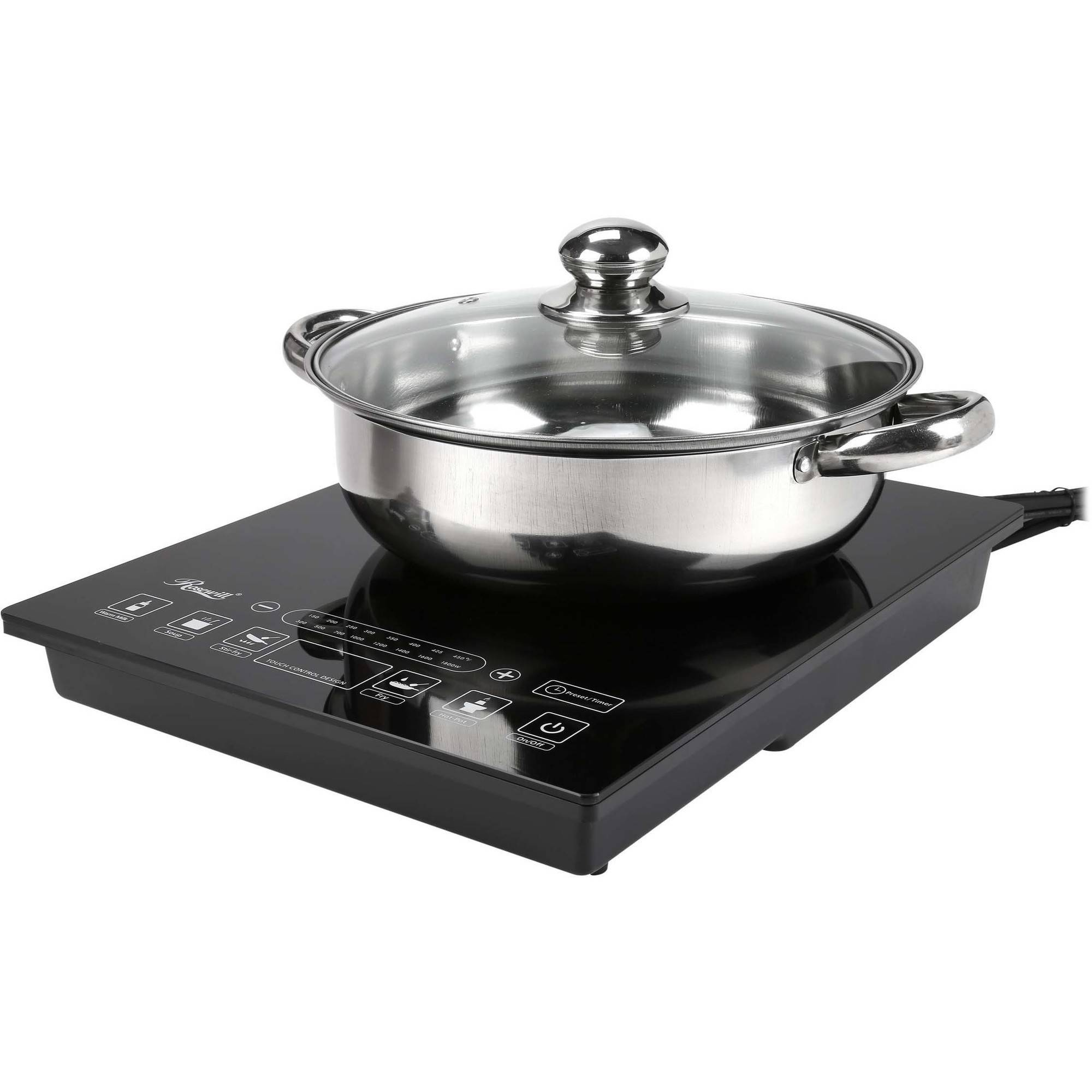 Fagor 1800w portable induction cooker 670041900 price tracking - Rosewill Rhai 15001 1800w 5 Pre Programmed Settings Induction Cooker Cooktop With Stainless Steel Price