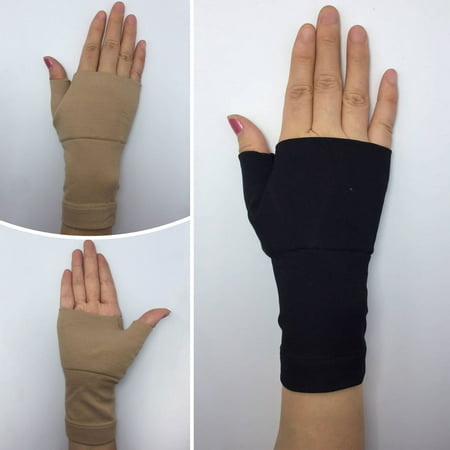 1 Pair Therapy Gloves Medical Wrist Thumbs Palm Sports Hands Support Brace Sleeve Bandages Arthritis Wrist Elastic Brace Sports Gloves Carpal Tunnel Arthritis Joint Pain Promote Circulation Flesh