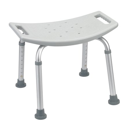 silver spring non slip shower chair without backrest