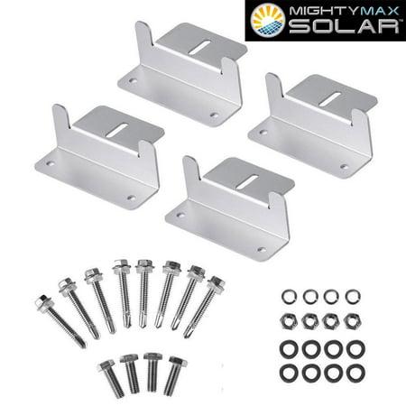 Panel Mount Bracket (Solar Panel Mounting Z Bracket kit for Houses)