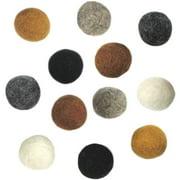 "Dimensions Feltworks Earth Tone Balls, 3/4"", 12/pkg"