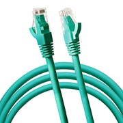 Jumbl Cat6 RJ45 Fast Ethernet Network Cable ? 5 Feet Green - Connects Computer to Printer, Router, Switch Box or Local Area Network LAN Networking Cord, no Signal Loss
