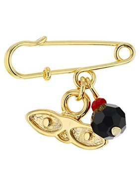 eb252bfa2 Product Image 14kt Gold Plated Eyes Saint Lucky Charm Azabache Protection  Baby Pin Brooch - Ojitos De Santa
