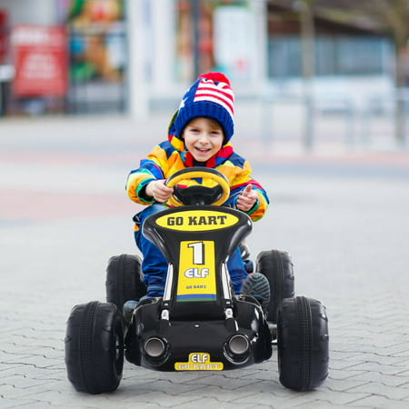 Go Kart Kids Ride On Car Pedal Powered Car 4 Wheel Racer Toy Stealth Outdoor - image 6 of 8