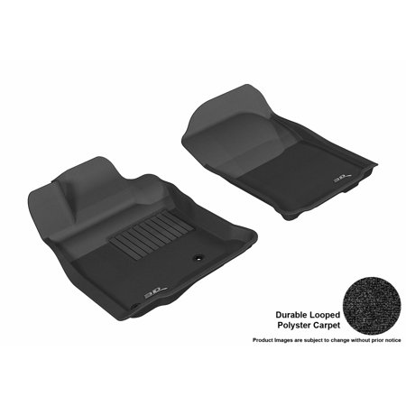 - 3D MAXpider 2013-2016 Toyota 4Runner Front Row All Weather Floor Liners in Black Carpet