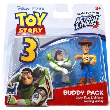 Toy Story Action Links Buddy Pack Laser Buzz Lightyear & Walking Woody Mini Figure 2-Pack for $<!---->