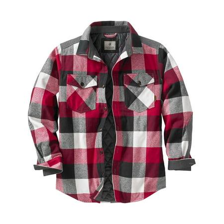 Legendary Whitetails Mens Woodsman Quilted Shirt Jacket Walmart