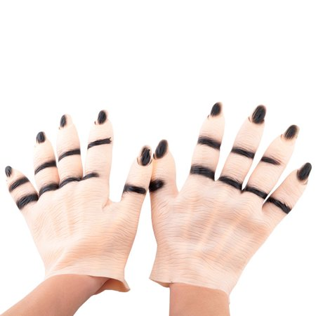 Halloween Masque Party Vampire Monster Horror Hands Costume Ball Cosplay Scary Haunted Ghost Imitating Flesh Color Hands Gloves