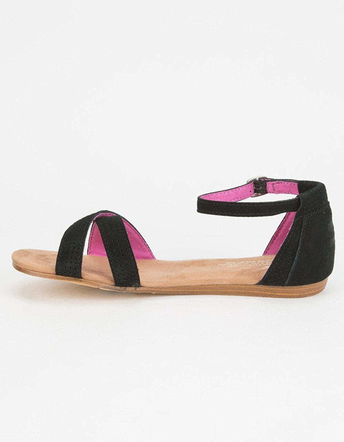e947c48327fc Toms - TOMS Kids Girl s Correa Sandal (Little Kid Big Kid) Black Perforated  Suede Sa... - Walmart.com