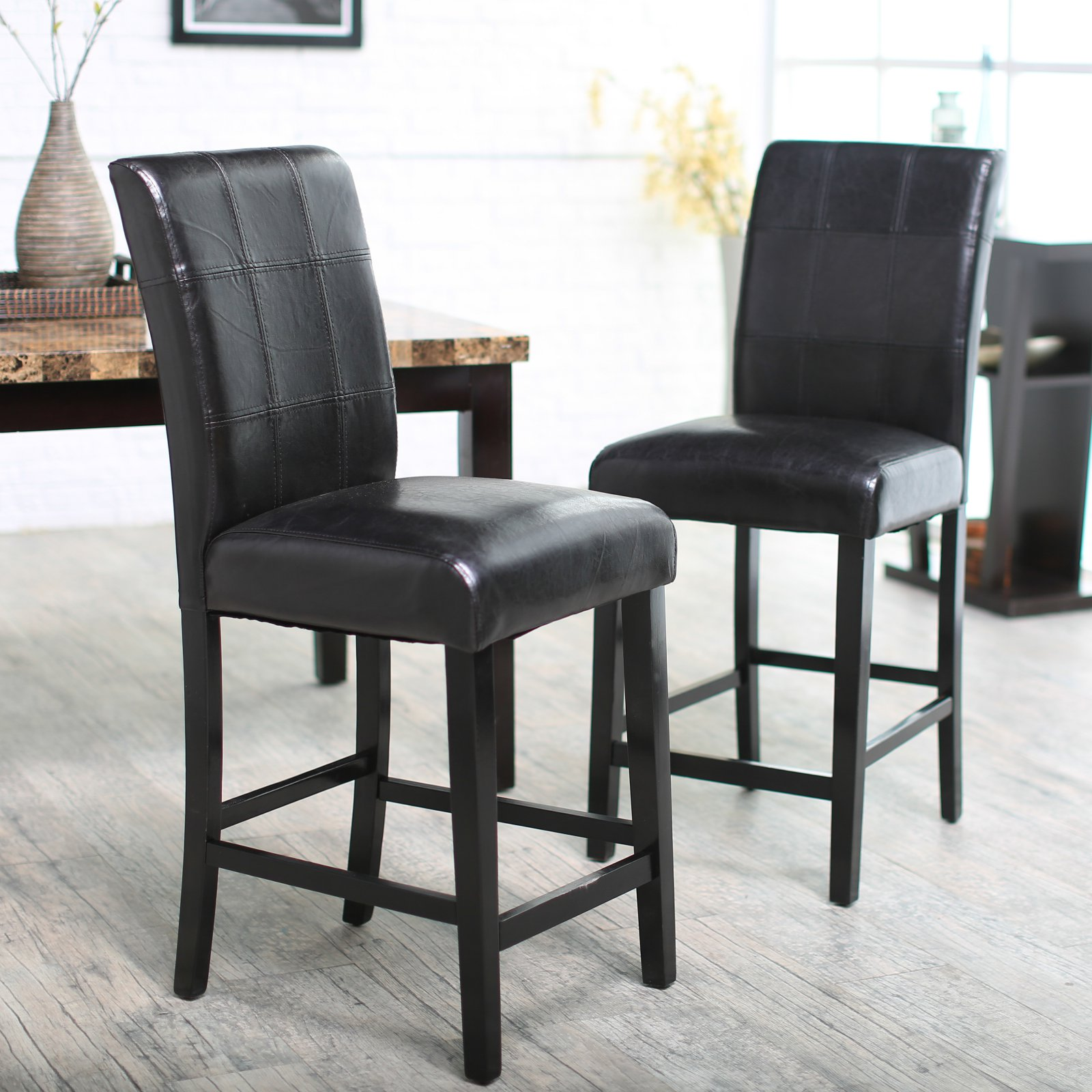 Palazzo 26 Inch Counter Stool Black Set Of 2 Walmartcom