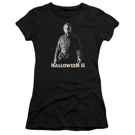 Halloween II Horror Slasher Movie Series Michael Myers Juniors Sheer T-Shirt Tee