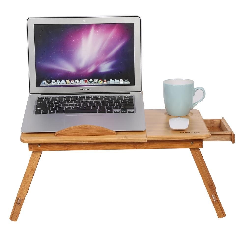 Adjustable Two Flowers Book Reading Tray Stand Bamboo Rack Shelf Bed Lap  Desk Laptop Stand Dormitory