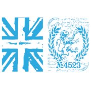 Tim Holtz Alterations Texture Fades Embossing Folders, London Icons & Union Jack