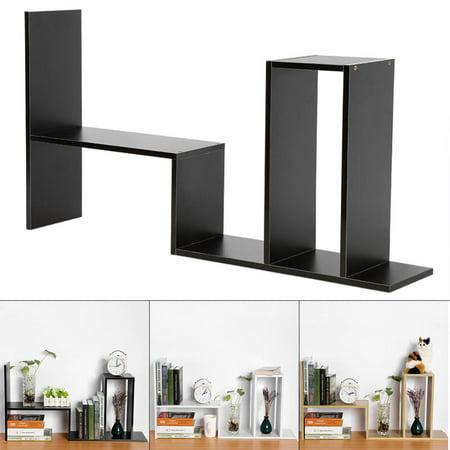 Ashata DIY Table Desktop Storage Rack Display Shelf Organizer Counter Top Bookcase         , Desktop Organizer, Table Organizer