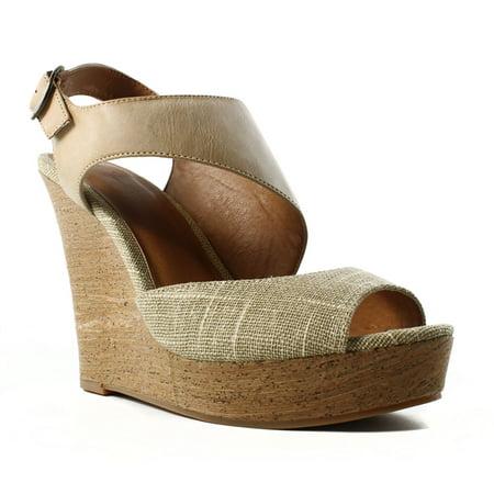 BC Footwear Womens Chihuahua Natural/Tan Slingbacks Size 9
