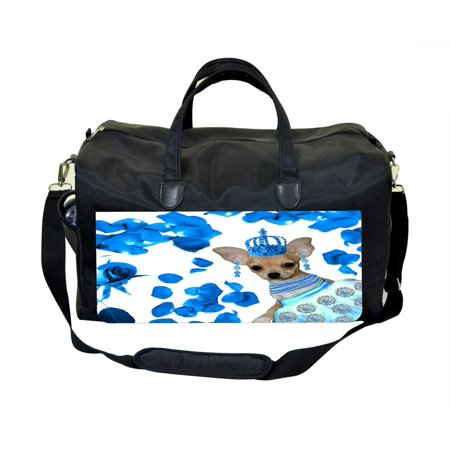 Chihuahua Bag (Chihuahua Dancer with Blue Petals-Jacks Outlet TM Weekender Bag )