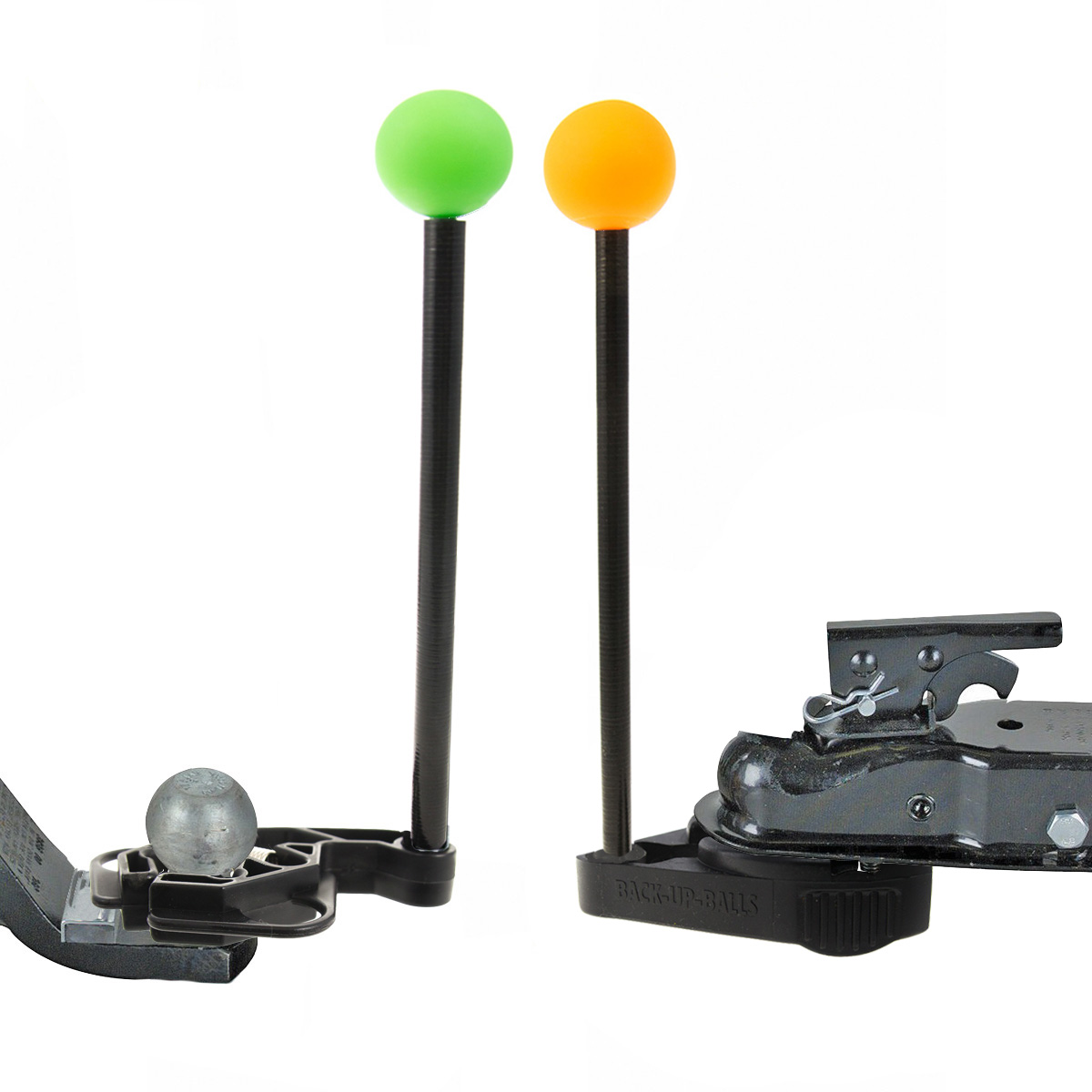 Glow In The Dark Backup Balls Single Person Trailer Coupler Loader Boat RV Hitch