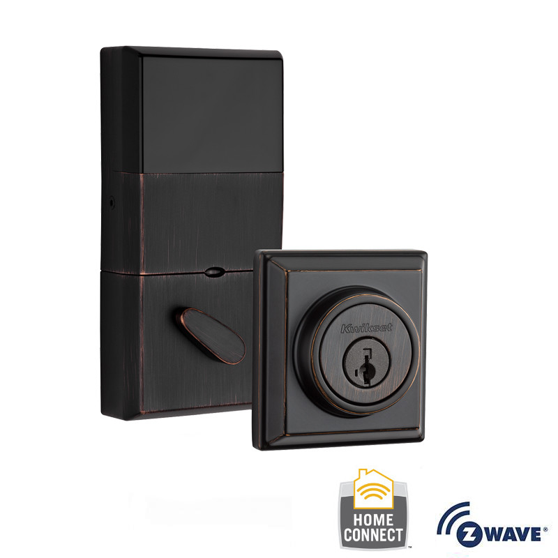 Kwikset 910-S-CNT-ZW Signature Series Contemporary Electronic Deadbolt with Z-Wave Technology