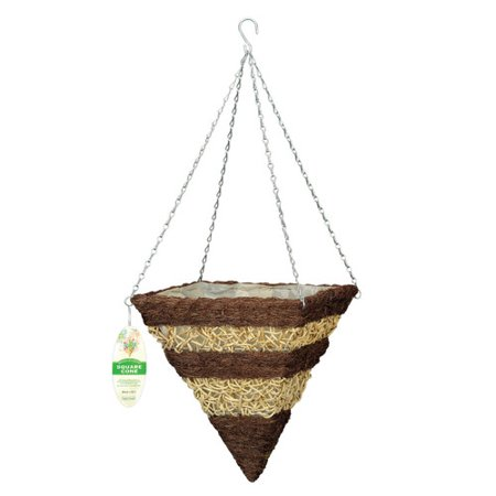 World Source Partners Rattan Hanging Planter  Set Of 10