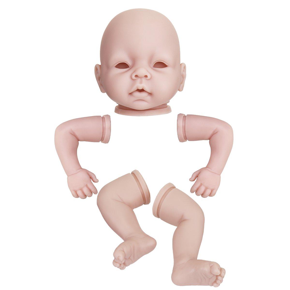 22 Inch Reborn Doll Kit Unpainted Dolls Parts Head Arms Legs Mold Vinyl Unique