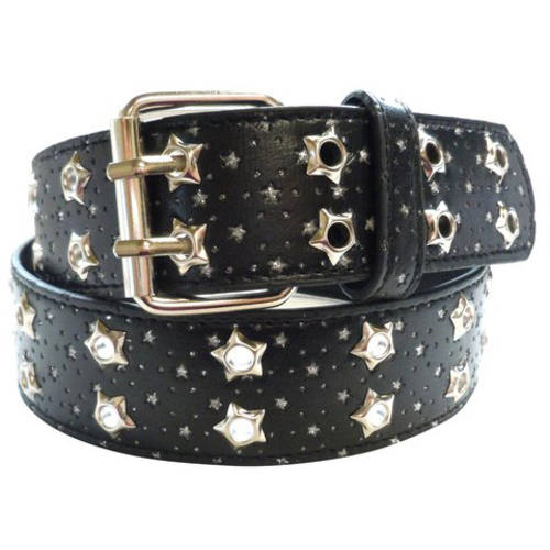 Glitter Star Eyelet Perforated Women's Belt
