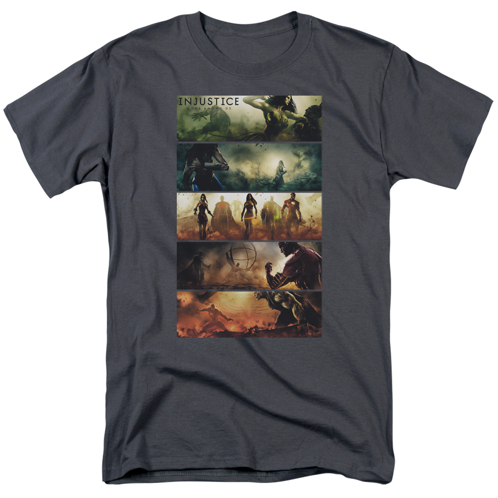 Injustice Gods Among Us Panels Mens Short Sleeve Shirt