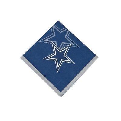 IN-13716628 NFL Dallas Cowboys Beverage Napkins 16 Piece(s) 2PK (Cowboy Napkins)