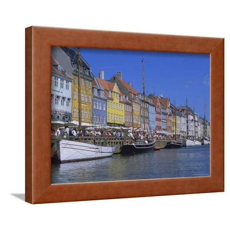 Nyhavn, or New Harbour, Busy Restaurant Area, Copenhagen, Denmark, Scandinavia, Europe Framed Print Wall Art By Robert (Best Restaurants In Utc Area)
