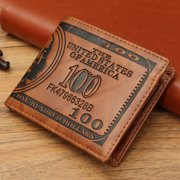 Creative Men PU Leather US Dollar Wallet Casual Credit Card Holder Purse Short Wallets  Father's Day Gifts