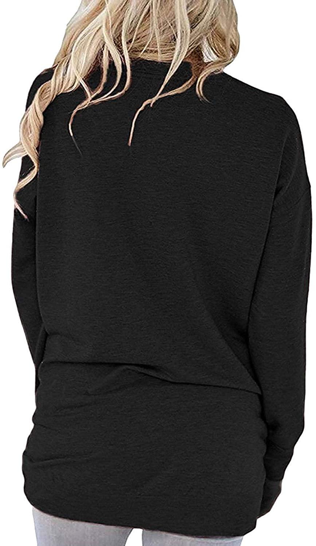 ZIOOER Women Mama Bear Sweatshirt T-Shirt Long Sleeve Pullover Tunic Tops Pockets Blouses Black M