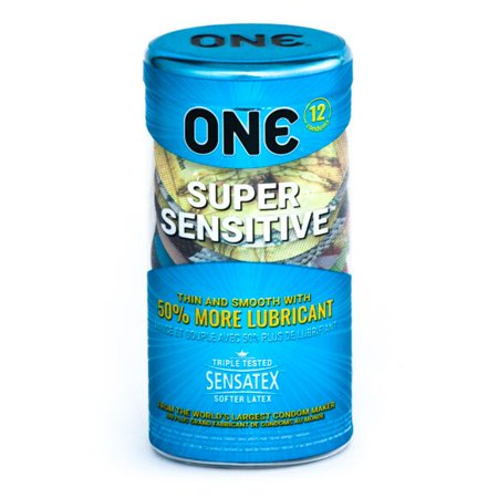 ONE Super Sensitive Condoms, 12ct