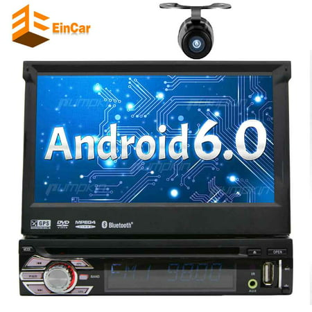 7in single din android 6 0 car stereo receiver with. Black Bedroom Furniture Sets. Home Design Ideas