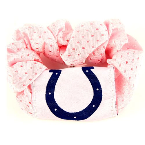 Indianapolis Colts Pink Hair Twist Ponytail Holder