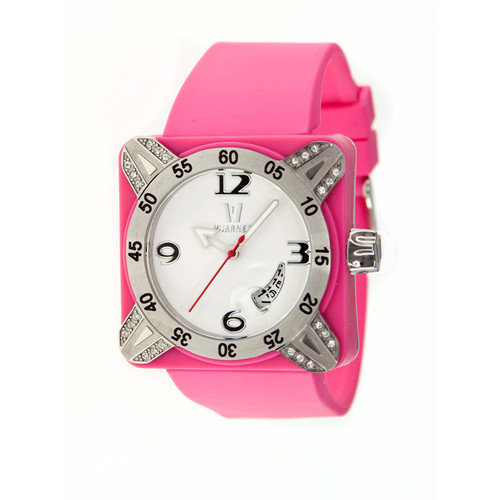 Vuarnet Deepest Lady Ladies Watch in Hot Pink with Silver Bezel