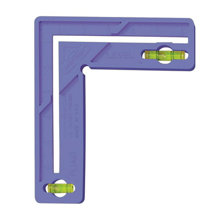 Level Best 189 6-Inch Home/Craft/School Square with Level, Violet, Great for window and door installation By The Level (Best Greenlee Levels)