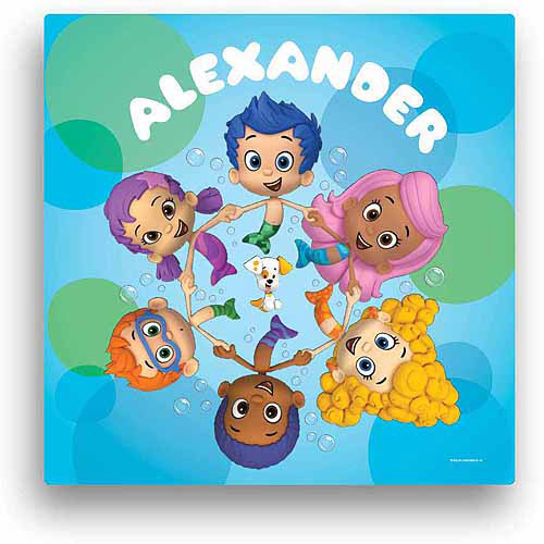 "Personalized Bubble Guppies Circle of Friends 16"" x 16"" Canvas Wall Art"