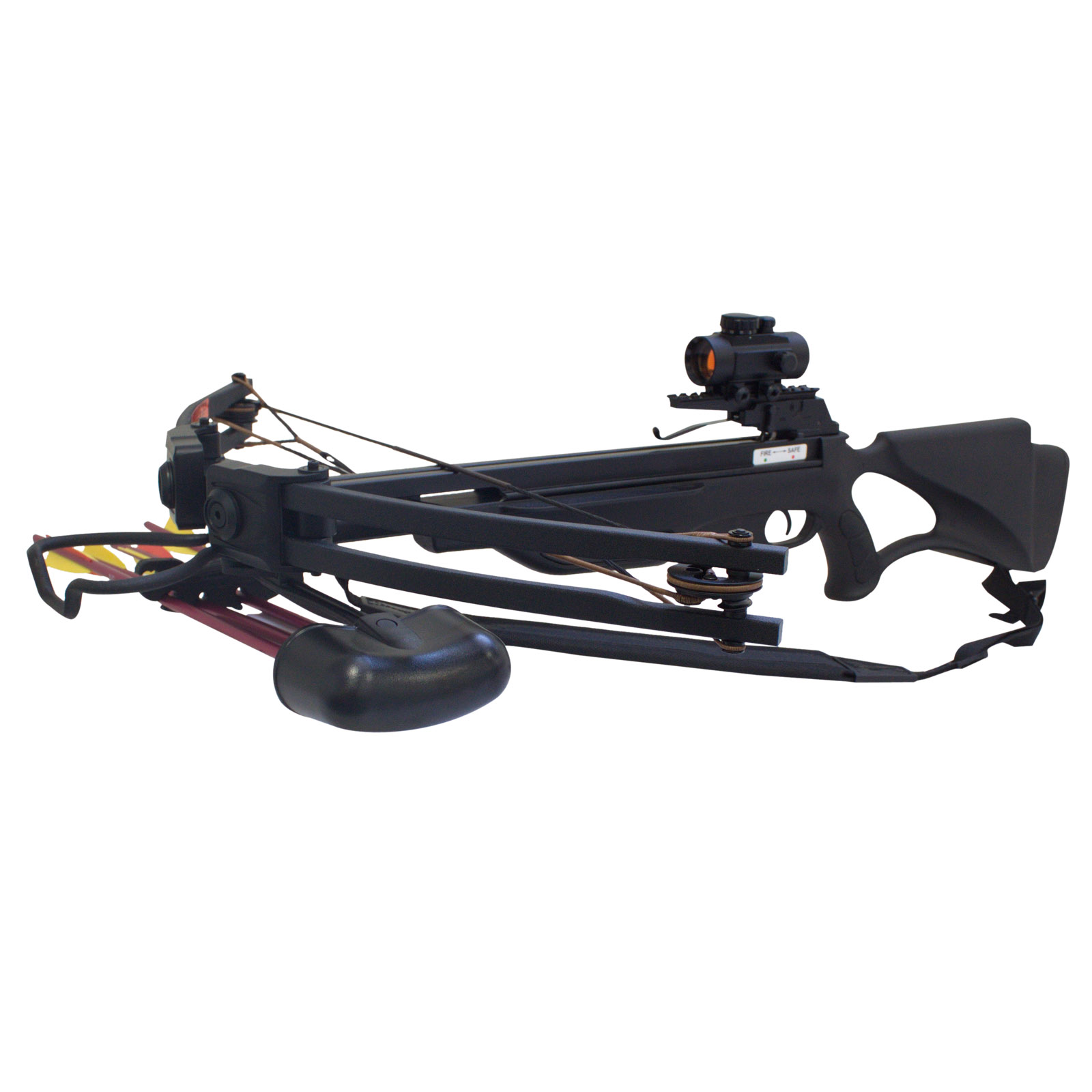 Click here to buy SAS Terrain 175lbs Crossbow Red Dot Scope Package.