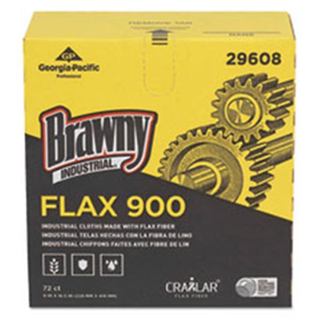 Georgia Pacific 29608 9 x 16.5 in. Flax 900 Heavy Duty Cloths, White, 72 per Box, 10 Box per Case - image 1 de 1