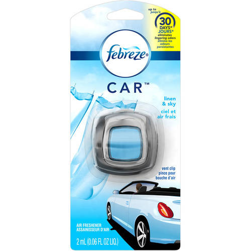 Febreze CAR Air Freshener Linen & Sky (1 Count, 0.06 oz)