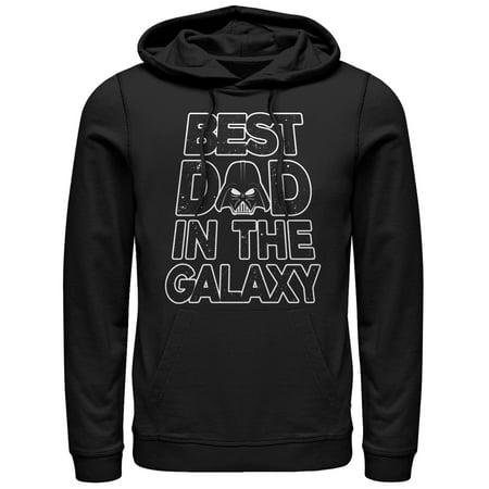 Star Wars Men's Father's Day Best Dad Darth Vader Helmet Hoodie
