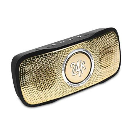 - Monster Cable SuperStar 24K BackFloat High Definition Bluetooth Speaker (Black/Gold)