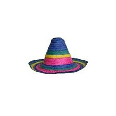 Big Sombrero Hat (Colorful Sombrero Straw Hat)